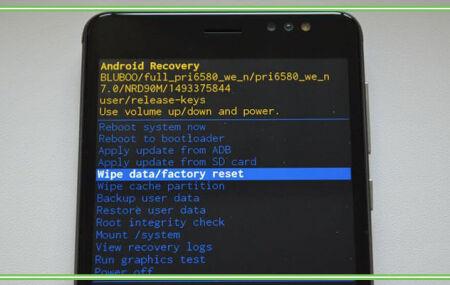 Сброс андроида до заводских настроек через рекавери