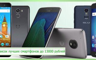 Список лучших смартфонов до 13000 рублей 2020 года