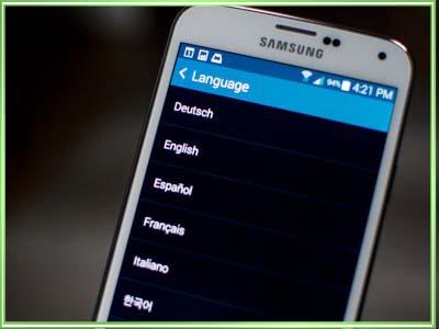 андроид сменить язык с английского на русский