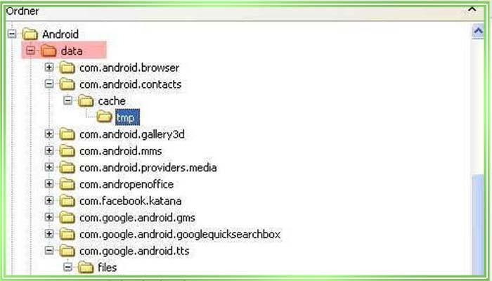 где находятся контакты в андроид