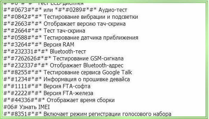 сервисные коды телефонов nokia